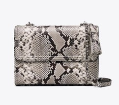 NWT Tory Burch Fleming Embossed Snake Convertible Shoulder Bag New $598 - $326.90