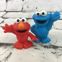 Sesame Street Workshop Figures Lot Of 2 Elmo Cookie Monster Hasbro 2010 - $9.89