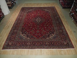 Dense & Durable Persian Hand Knotted 10x13 Kashan Rug Home dyed Wool Are... - $886.20