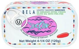 Bela Lightly Smoked Sardines in Organic Extra Virgin Olive Oil with Piri... - $37.36