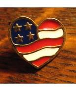 Avon Heart America Flag Lapel Pin - Vintage 2001 USA Valentine's Day Gol... - $19.79