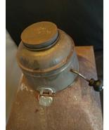 Antique Hoosier Cabinet FLOUR SIFTER Metal With Crank Cap Window Glass O... - $70.13