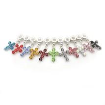 Fashion Crystal Crosses Necklace Pendant European Style Multicolor Rhinestone Ch image 1