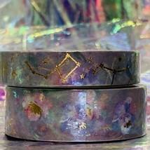 SEALED Papergeek Paper Geek 2x Blue Floral Constellation Washi Tape 33' Each image 1