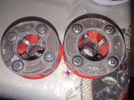 ridgid 00r manual heads pipe treader 1/2 & 3/4 inch  - $89.99