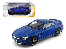 2012 Mercedes SL 63 AMG Blue 1/18 Diecast Car Model by Maisto - $58.06
