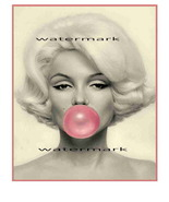 Marilyn Monroe Blowing Bubbles - $29.99