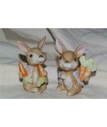 Homco Bunnies in Jackets 1410 Rabbit Home Interiors - $9.99