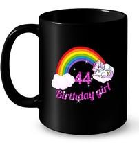 44th Birthday Girl Unicorn Rainbow Gift Coffee Mug - $13.99+