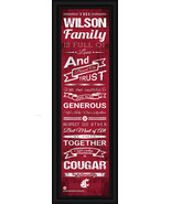 Personalized Washington State University Cougars 24x8 Family Cheer Frame... - $39.95