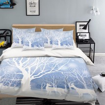 3D Trees Deers 3 Bed Pillowcases Quilt Duvet Cover Set Single Queen King Size AU - $90.04+