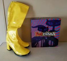 "FUNTASMA GOGO-300 Yellow 3"" Heel Costume Halloween Cosplay Knee-High Boots - $24.75"