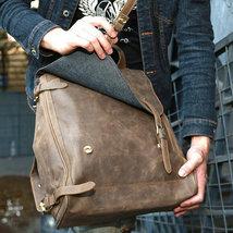 Sale, Handmade Men Backpack, Horse Leather Travel Backpack, Vintage Laptop Backp image 3