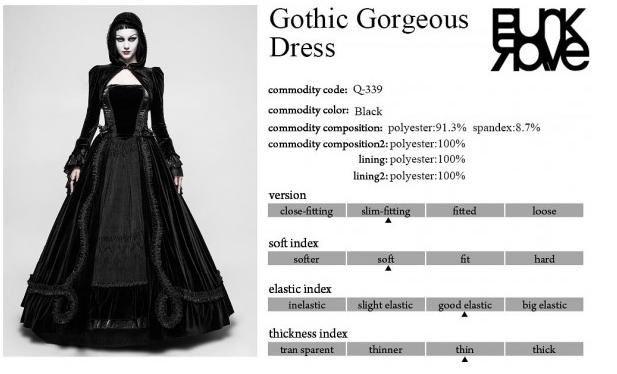 2f495e9ec3f51 New PUNK RAVE Gothic Wedding Ball Velvet Lace Dress Black Q-339 FAST POSTAGE
