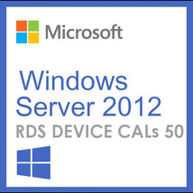 Windows Server 2012 Remote Desktop Services RDS DEVICE CALs (50) - $49.99