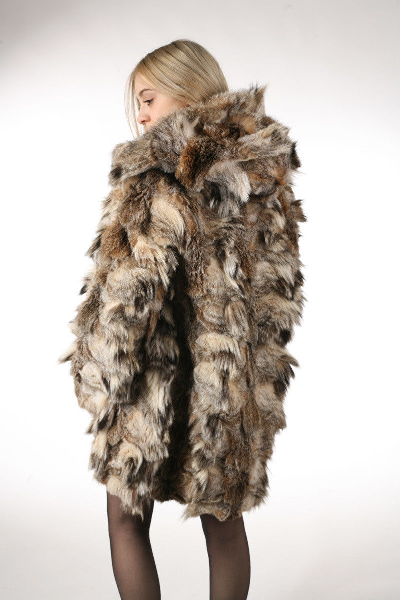 Lynx Fur Coat Hooded Sectional image 4