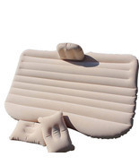 Inflatable Flocking Car Mattress - Beige - $91.95