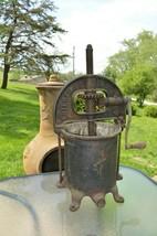 Antique Enterprise # 2092 6/8 Quart Qt Press Sausage Stuffer Cast Iron  - $186.96