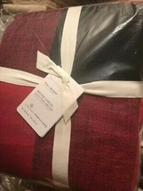 Pottery Barn Bryce Duvet Cover Red Black Queen Buffalo Check No Shams New - $158.66