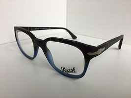 New Persol Gray Blue 50mm Eyeglasses Frame Hand Made Italy - $59.99