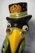 Vaillancourt Folk Art Halloween Black Crow Signed by J image 5