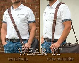 Messenger Bag Strap Replacement - Quality Genuine Cowhide Leather Adjustable Sho image 8