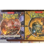 Runebound Expansion - The Island of Dread 2005 Complete & 2nd Edition Ru... - $147.51