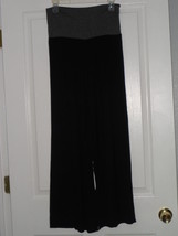 Bella D. Knit Stretch Palazzo Pants Size M BLACK/GRAY Made In Usa Nwt - $17.99