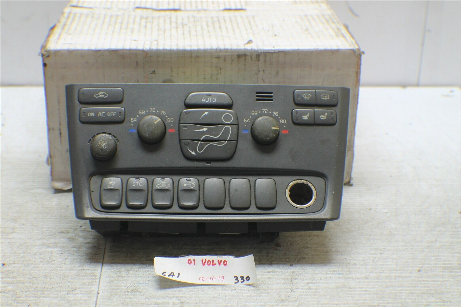 1999-2003 Volvo S 80 Series AC Climate Control Switch 9472421 OEM 330 6A1-Bx1 - $36.62