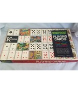 Vintage Windproof Magnetic Steel Playing Cards With Board Org Box Kling - $27.71