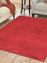 Rugsotic Carpets Hand Knotted Gabbeh Silk 10'x10' Area Rug Solid Red LS0111 - $398.00