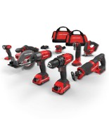 CRAFTSMAN V20 20-Volt Max 8-Tool Power Tool Combo Kit with Soft Case (2-Batterie