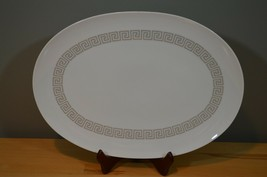 Rosenthal Continental China oval serving platter Greek Key Loewy  Grey 1... - $31.99