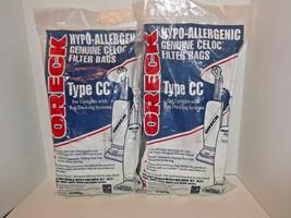 2 Packs Oreck Type CC Genuine Celoc Vacuum Filter Bags CCPK8DW 16 Total Bags (e) - $49.49