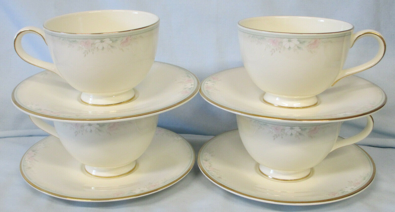 Primary image for Royal Doulton Matinee H5135 Cup & Saucer Set of 4