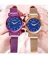 Luxury Rose Gold Women Watches Fashion Elegant Magnet Buckle Ladies Wris... - $11.99