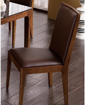 Contemporary Padded Dining Chair Solid Back Wooden Side Chair Furniture ... - $432.81