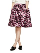 Kate Spade Petit Four Cupcake Print Full Flared Skirt Size 2 Black Pink - $197.01