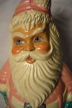 Vaillancourt Folk Art, 1950's PINK  Santa Collector Wknd personally signed Judi! image 5