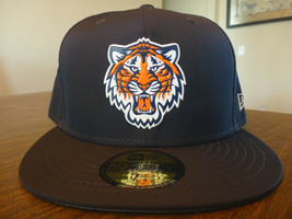 DETROIT TIGERS NEW ERA 59FIFTY BATTING PRACTICE PROLIGHT NAVY FITTED HAT... - $24.99