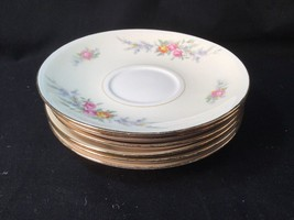 Homer Laughlin Ferndale Eggshell Nautilus 6 Saucers 1946 And 1948 - $9.89