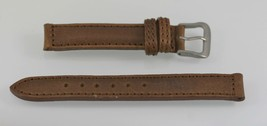 Fossil Unisex Stainless Steel Brown Leather Replacement Watch Band 14mm - $8.59