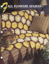 Fall Flowers Afghan, Annie's Crochet Quilt & Afghan Pattern Leaflet QAC3... - $2.95