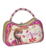 Disney Frozen Anna Tin Purse Lunch Box Carry Case Pink - $13.99