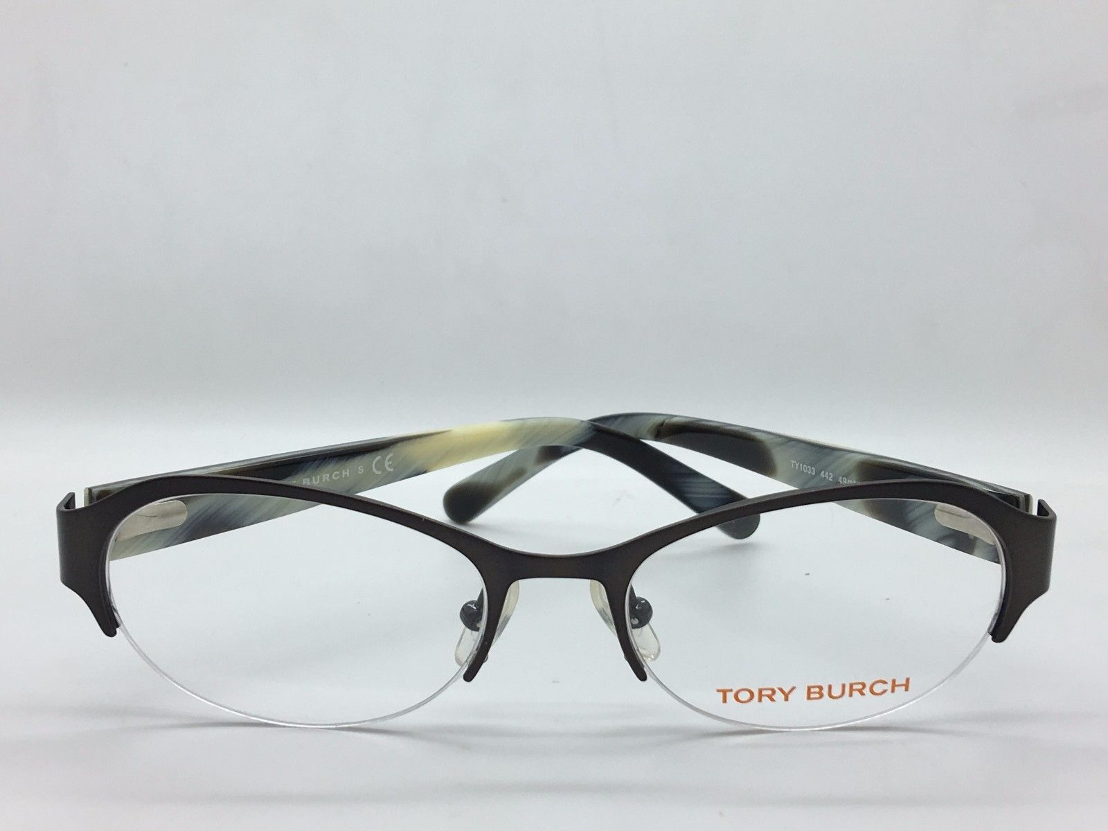 Tory Burch Brushed Black Womens  TY1033 Eyeglass Frames 442-49 -  Frame