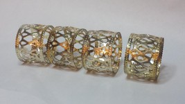 Napkin Ring - Set of 4 Napkin Metal Rings - Gol... - $9.65
