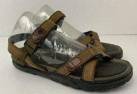 Timberland Leather Sandals Womens US 10 Sport Casual Brown 95381 - $48.96