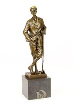 Antique Home Decor Bronze Sculpture a Golfer, trophy, signed * Free Air ... - $239.00