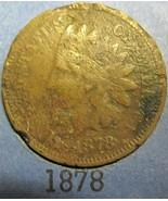 Indian Head Cent 1878 AG - $7.95