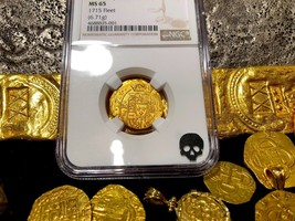 "MEXICO 1714 2 ESCUDOS NGC 65 ""1715 FLEET"" SHIPWRECK PIRATE GOLD TREASURE... - $12,500.00"